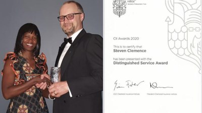 Steve Clemence receives the CII's Distinguished Service Award